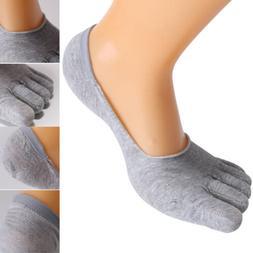 5Pairs Men's Cotton Toe Socks Sports Five Finger Low Cut Inv