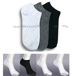 6,12 Pairs Plain Colors Mix Solid Ankle Spandex NO SHOW sock