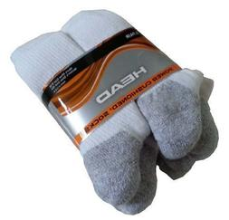 6 PACK COSTCO HEAD POWER CUSHIONED SOCKS WHITE MEN'S SIZE 9-