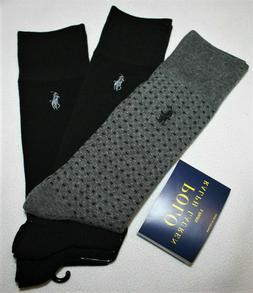 6 Pck PUMA FILA Men's DRY Socks CREW SIZE LARGE 6-12 BLACK M