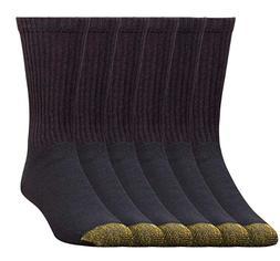 6 Pack Gold Toe Men's SOFT Cotton Crew Socks & COMFORTABLE