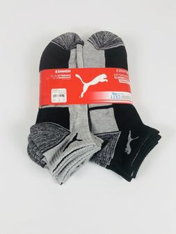 6 Pack Puma Men Cushioned Sport Coolcell Low Cut Socks Shoe