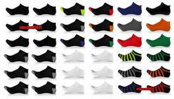 6 Pack Elite Collection Men's Low Cut Cool No Show Ankle Soc