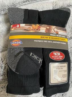 6 Pair Crew Dri Tech Mens Socks Dickies Black Pack Men S Com