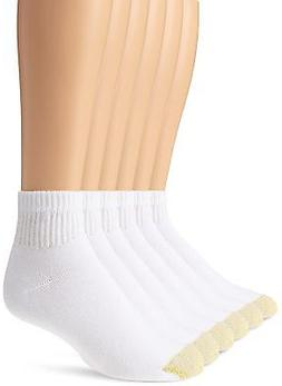 GOLD TOE 6-PAIR WHITE SH SZ L 6-13 Men SPORTS ATHLETIC CUSHI