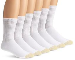 GOLD TOE 6-PAIR WHITE Shoe SZ L 6-13 Mens SPORTS ATHLETIC CU