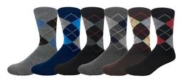 6 pairs men s argyle diamond pattern