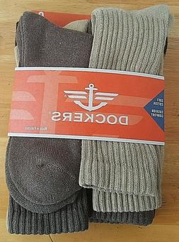 DOCKERS 6 Pairs Men's Soft Cotton Cushion Comfort Rib Leg So