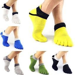6 Pairs Men's Sports Half Toe Yoga Ankle Grip Socks 5-Toe So