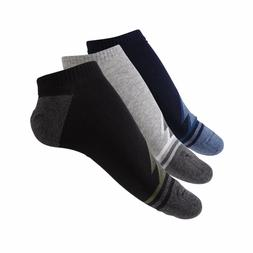 6 Pairs Mens Low Cut Ankle Stripe Socks,100% Cotton Sport So
