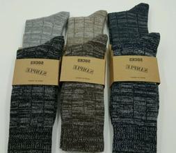 6 pairs Mens Organic Cotton slub yarn & soft top elastic Boo