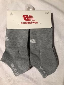 7ce9517eddc0d NEW BALANCE 6-PK Men's Ankle Socks Grey/White/Black Ankle