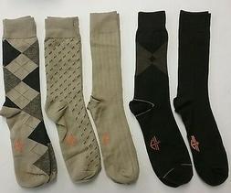 Dockers Men's Classics Dress Argyle Crew Socks 5-Pack khaki