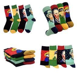Famous Painting Van Gogh Printed Mens Dress Socks - Hsell Ar