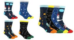 Happypop Men Dress Crew Socks, Moisture Wicking Cotton Galax