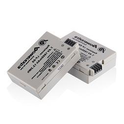 Powerextra 2 Pack 7.4V 1800mAh Li-ion Replacement Canon LP-E
