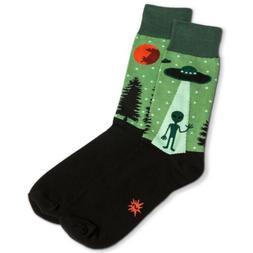 Alien Socks - Sock It To Me I Believe Funky Dress Socks Mens
