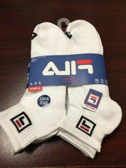 Fila Mens Athletic Socks Performance Arch Support Quarter 6