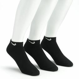 New Nike Unisex 6 Pack Band Cotton Low Cut Socks White/Black