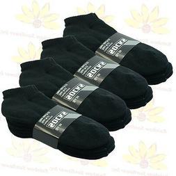 Black Men 3 Pairs Thick Ankle Sport Socks Cotton Low Cut Siz