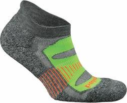 Balega Blister Resist No Show Socks, Charcoal Lime, X Large