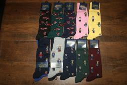 Brand New Polo Ralph Lauren Men's Bear Trouser 2-Pack Socks