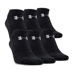 Under Armour Men's UA Charged Cotton No Show 6 Pack, Black,
