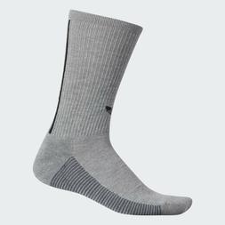 {CJ3873} adidas 3-STRIPES crew socks medium grey heather *NE