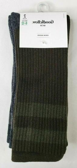 Goodfellow & Co Men's Crew Socks 2 Pairs Size 6-12