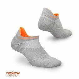 WAKEN Compression Running Socks Anti-Blister No Show XL  GRE