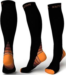 Physix Gear Compression Socks for Men & Women 20-30 mmhg, Be