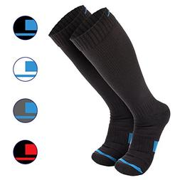 Wanderlust Compression Socks For Men & Women.  Black.  Mediu