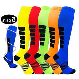 5 Pairs Compression Socks Women & Men -Best Medical,Nursing,