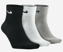 NIKE Unisex Performance Cushion Quarter Training Socks , Gre
