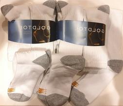 Gold Toe Men's Crew 656s Athletic Sock, 6 Pack Black, Shoe S
