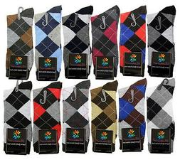 12 PAIRS NEW COTTON MEN LORDS ARGYLE STYLE DRESS SOCKS SIZE