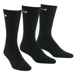 Nike Crew Cut Socks 3 pack , Black)