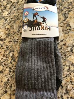 Crew Sock Pair Outdoor Hiking Medium Black ~ New
