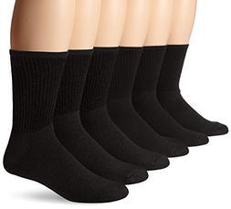 Hanes Men's Cushion Crew Socks 12-Pack Grey Shoe Size 6-12