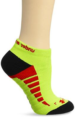Under Armour Women's Full Cushion Run Socks , Hi Vis Yellow/