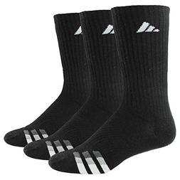 adidas Men's Cushion Crew Socks , Black/White/Light Onix/Gra
