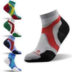 Low Cut Athletic Socks, ZEALWOOD Men Running Socks Competiti