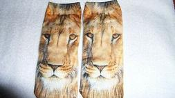 Cute Lion Face Socks Unisex Clothing Casual Men's Women Ankl