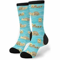 Cute Otters In Water Men&39s Women&39s Novelty Crew Socks Cr