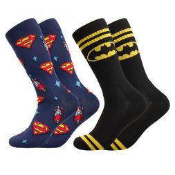 Bioworld DC Superhero Socks Batman Superman Men Crew Socks f