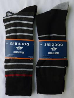 DOCKERS Dress Crew Socks Fits Men's Shoe Size 6-12 You Pick