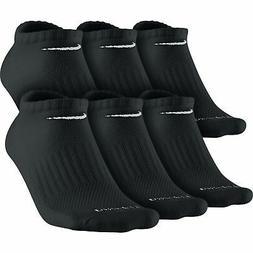 Nike Dri-Fit Cushion No Show Socks  Medium Black Size Medium