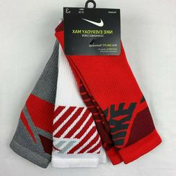 Nike Dri-FIT Cushioned Crew Socks Everyday Training 3 Pack M