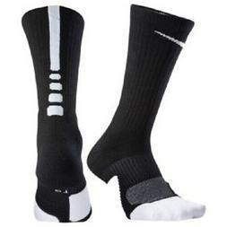 NIKE Unisex Dry Elite 1.5 Crew Basketball Socks , Black/Whit