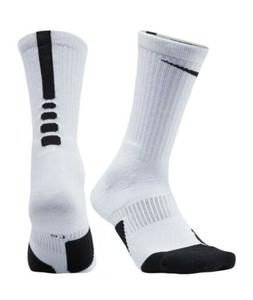 NIKE Unisex Dry Elite 1.5 Crew Basketball Socks , White/Blac